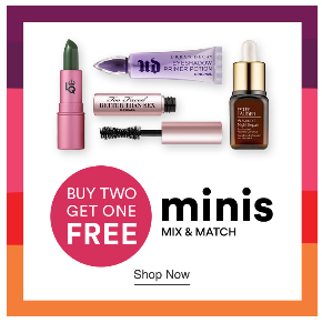 21 Days of Beauty 2020 Ulta Beauty buy two get one free minis