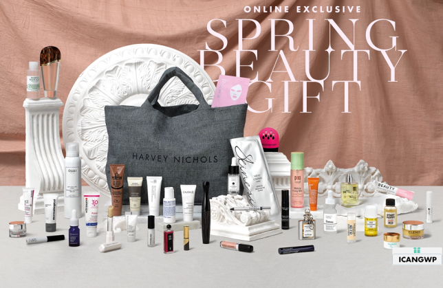 harvey nichols goody bag spring 2020 icangwp blog