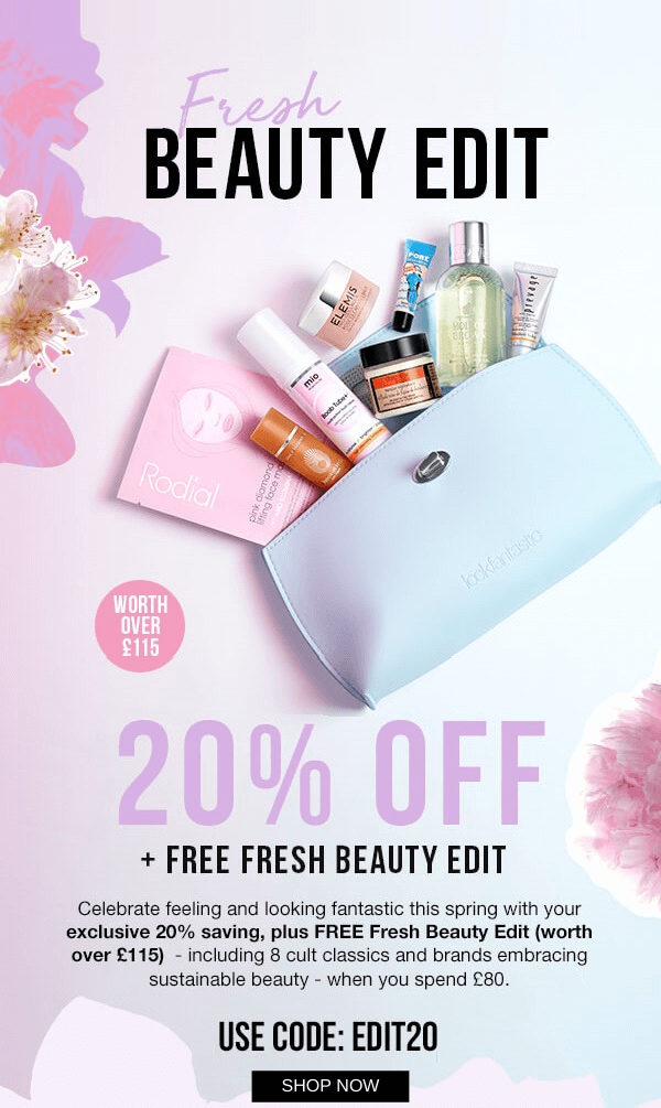 lookfantastic Fresh Beauty Bag worth over £115 icangwp blog march 2020