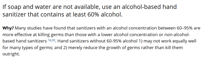 Show Me the Science – When How to Use Hand Sanitizer in Community Settings Handwashing CDC