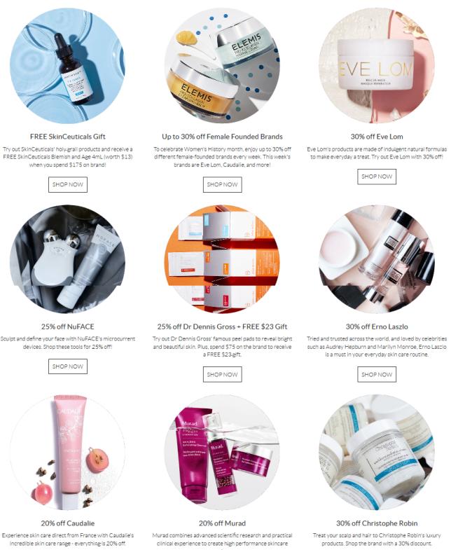 SkinStore anniversary sale icangwp