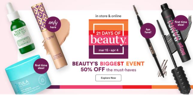 Ulta 21 Days of Beauty Ulta Beauty icangwp march 2020
