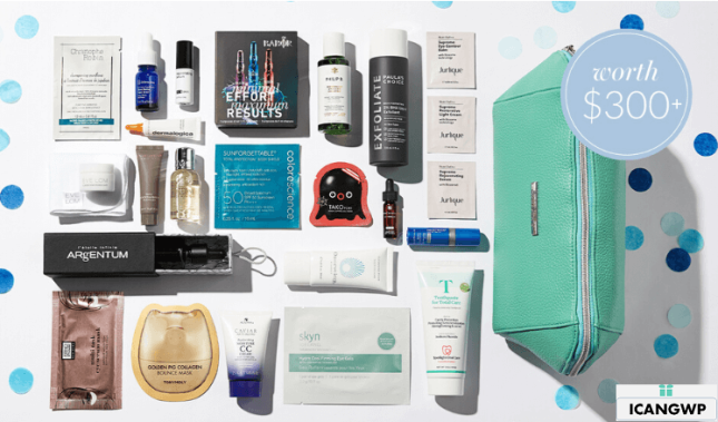 SkinStore anniversary sale gift bag 2020 icangwp blog march 2020