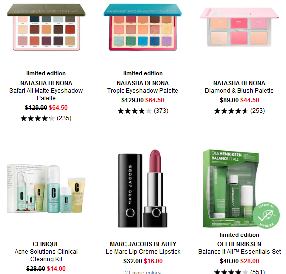 Makeup Sale Beauty Sale Sephora
