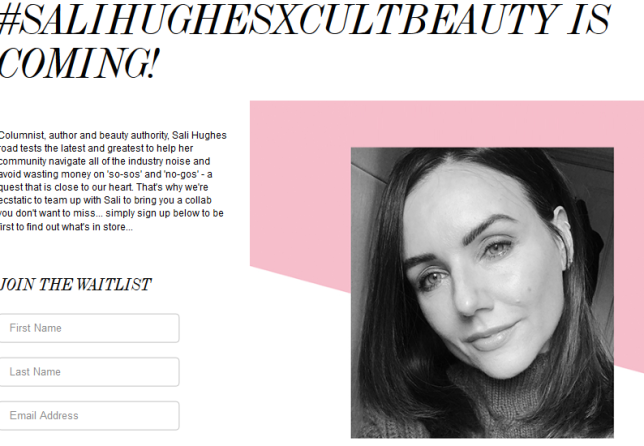 Sali Hughes X Cult Beauty Cult Beauty
