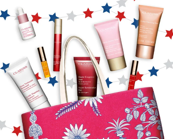 Gift with Purchase Free Shipping and Samples Clarins