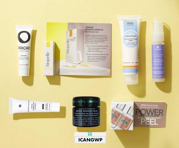 skincarerx 7-Piece Beauty Bag worth $78 icangwp blog
