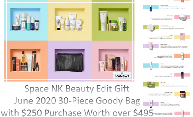 space nk gift bag beauty edit june 2020 icangwp