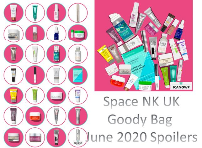 Space NK goodie bag june 2020 icangwp beauty blog full spoilers