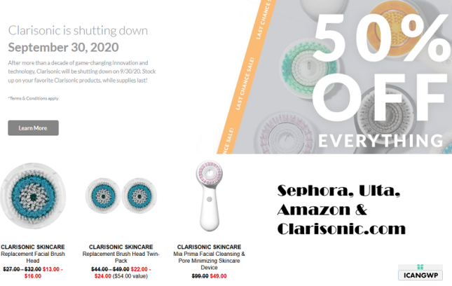 clarisonic is shutting down icangwp