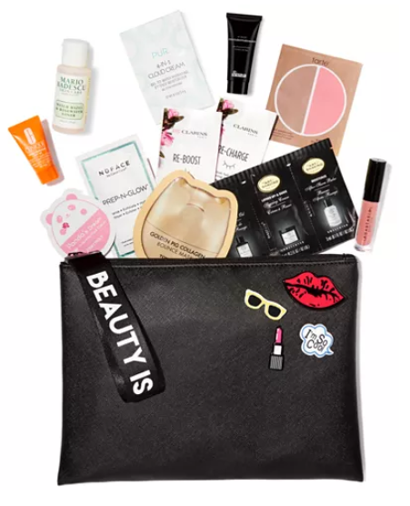 Created For Macy s Receive a Free Cosmetics Bag with 12 pc. Sampler with any 65 or more Qualifying Cosmetics Purchase Reviews Gifts with Purchase Beauty Macy s