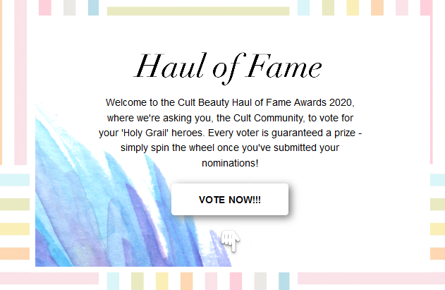 Haul of Fame 2020 Cult Beauty