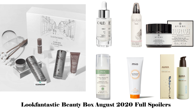 lookfantastic beauty box august 2020 full spoilers lookfantastic sarah chapman icangwp beauty blog