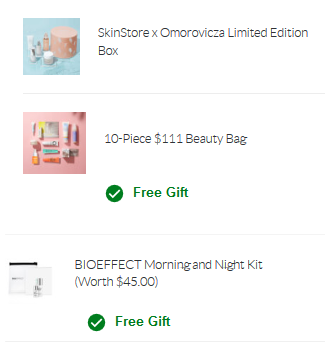 SkinStore limited edition beauty box icangwp blog and free gwp