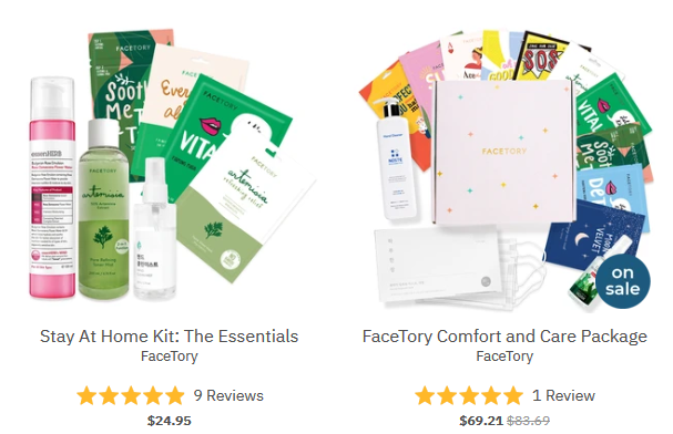 The Comfort Care Campaign – FaceTory 1 Sheet Mask Destination