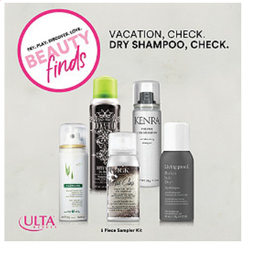 ULTA Free Beauty Break Vacation Check. Dry Shampoo Check. Kit with 50 purchase Ulta Beauty