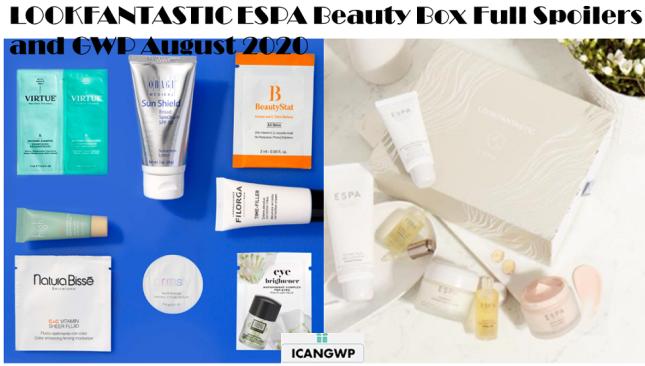 lookfantastic espa beauty box full spoiler aug 2020 icangwp