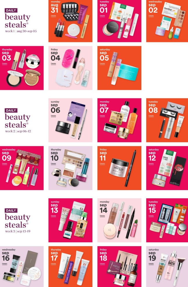 Ulta 21 Days Of Beauty Event Fall 2020 Daily Steals And Price Match Icangwp Gift With Purchase