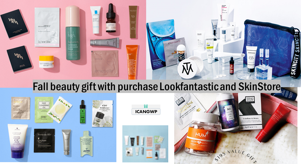 beauty gift with purchase lookfantastic icangwp beauty blog