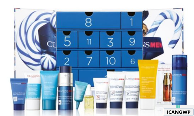 Clarins advent calendar 2020 Men 12 Day Christmas Calendar icangwp blog