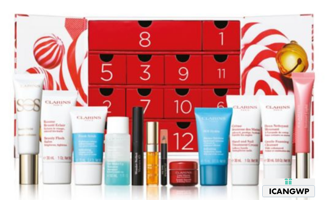 Clarins advent calendar 2020 Women 12 Day Christmas Calendar icangwp blog