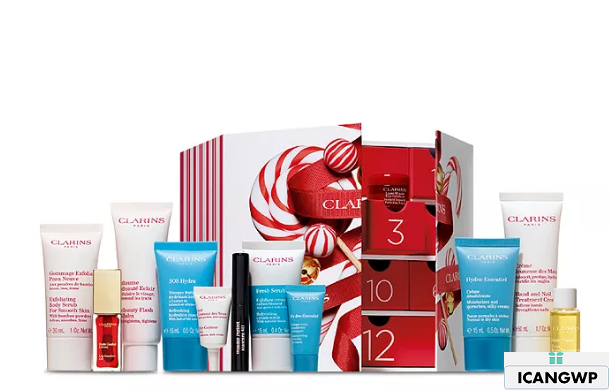 Clarins Winter Wonders Advent Calendar Set ($159 value) Back to Results - Beauty Cosmetics icangwp