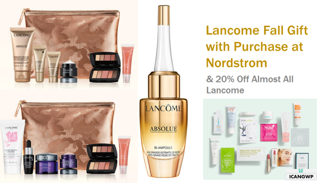 lancome Gift with Purchase Nordstrom 2020 icangwp blog sept 2020 2