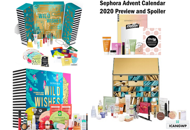 sephora holiday 2020 icangwp blog beauty advent calendar 2020