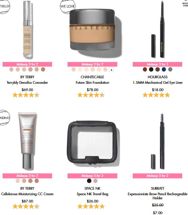 space nk Buy 2 get 1 FREE makeup icangwp blog sep 1