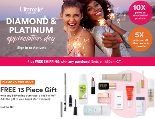 Ultamate Rewards Member Appreciation Day Ulta Beauty icangwp