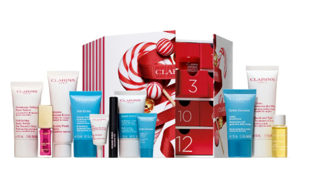 best beauty advent Clarins Winter Wonders Advent Calendar (USD $159 Value) Nordstrom
