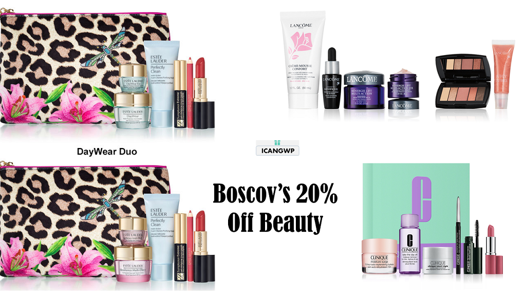 boscovs beauty gift with purchase icangwp oct 2020
