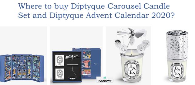diptyque carousel 2020 diptyque advent calenar 2020 icangwp beauty blog