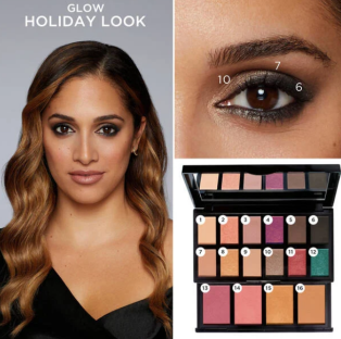 lancome Holiday Beauty Box 2020 swatches 2 Lancôme look icangwp