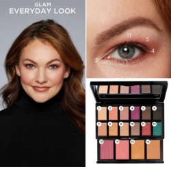 lancome Holiday Beauty Box 2020 swatches 8 Lancôme look icangwp