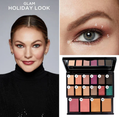 lancome Holiday Beauty Box 2020 swatches 9 Lancôme look icangwp