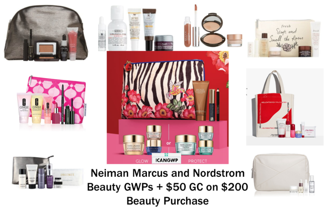 nordstrom beauty gift with purchase and neiman marcus beauty gwps