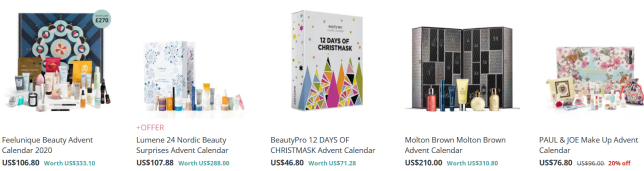 Screenshot_2020-10-05 Beauty Advent Calendars 2020 Makeup Calendar Feelunique