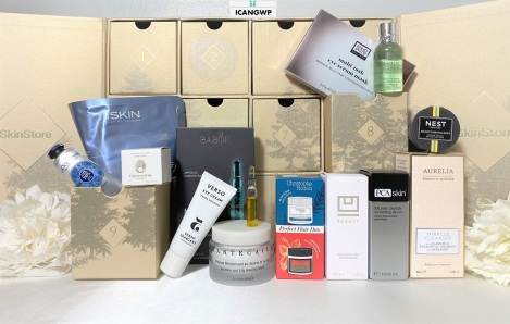 skinstore beauty advent calendar 2020 unboxing icangwp blog