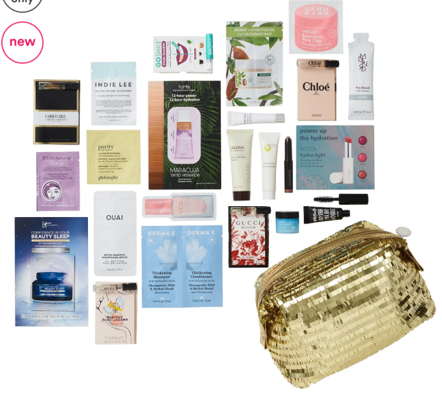 11-15 Variety Hello Holidays - Free 23 Piece Beauty Bag with $70 purchase - Festive Flair Ulta Beauty icangwp