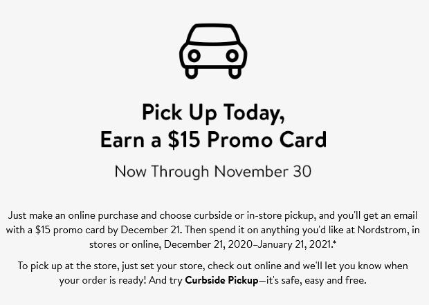 11-17 Store Pickup free 15 Gift Card Terms Conditions Nordstrom