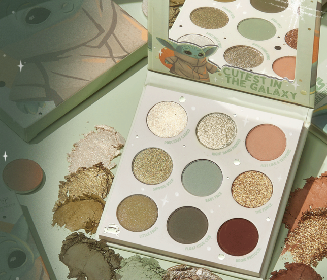 colourpop baby yoda palett The Child palette icangwp