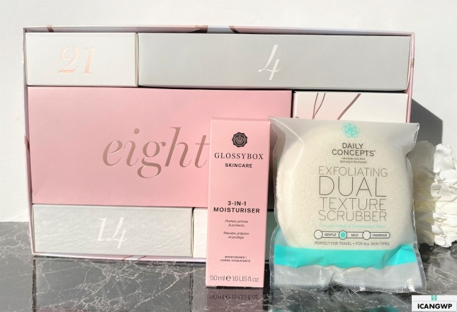 glossybox advent calendar 2020 review icangwp day 7_8