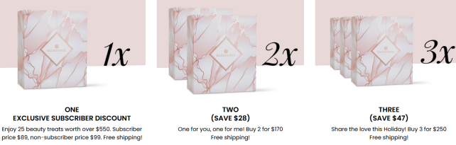 Glossybox advent calendar 2020 US sale