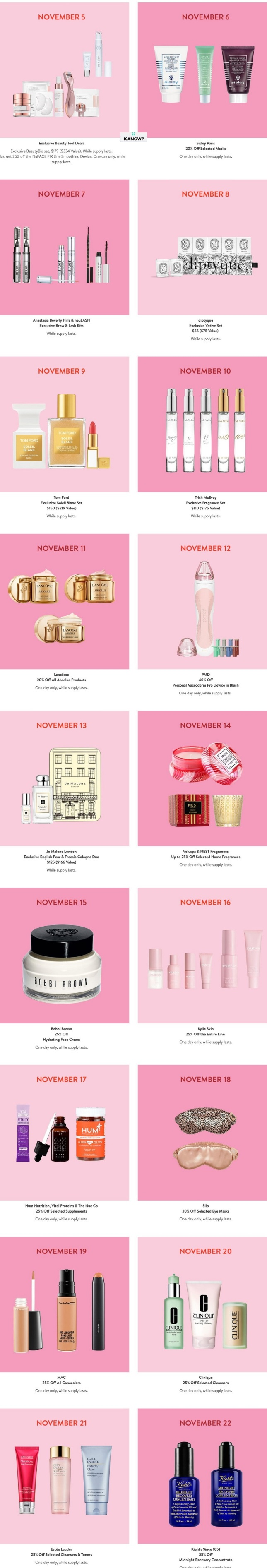 nordstrom Beauty daily Deals black friday icangwp (2)