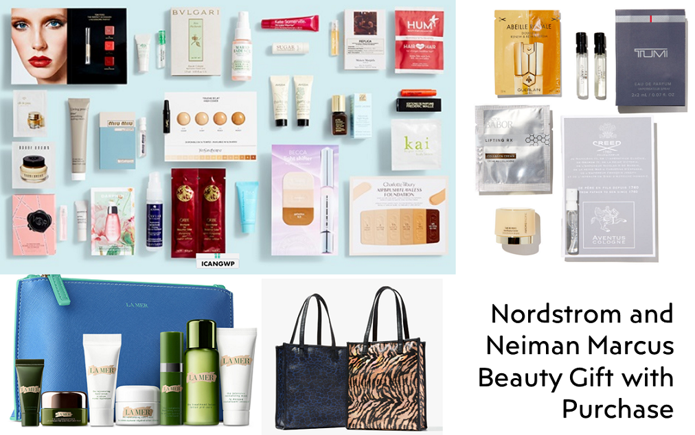 nordstrom beauty gift with purchase and neiman marcus beauty gwps icangwp