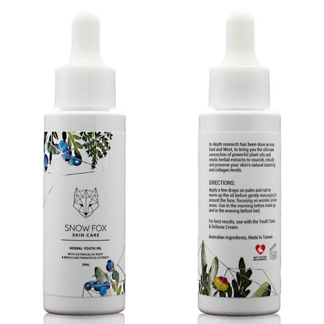snow fox herbal youth oil icangwp