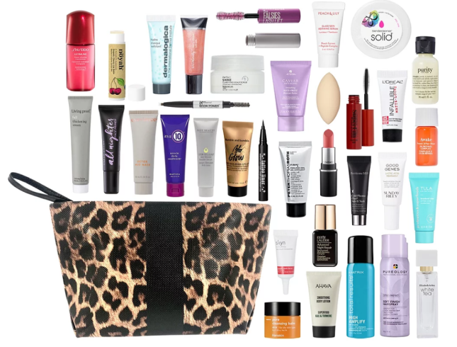 12-02 Variety Free Platinum Diamond Exclusive 34 Piece Beauty Bag with $100 purchase Ulta Beauty icangwp