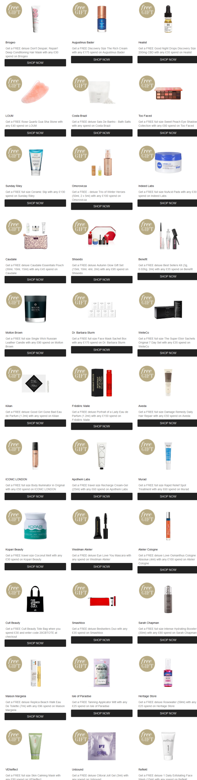 12-15 Cult Beauty uk gift with purchase goody bag icangwp (2)