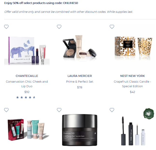 12-17 Online Exclusive Beauty Offer 50% Off icangwp